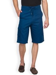 Hypernation Royal Blue Color Casual Three Fourth For Men