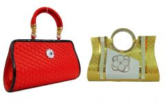 Estoss Buy 1 Get 1 - Red Party Clutch and Gold Party Clutch For Gift HCMB1017