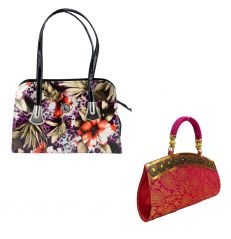 Estoss Buy 1 Get 1 - Multicolor Handbag And Pink Party Clutch For Gift HCMB1056