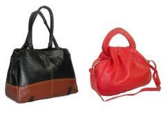 Estoss Women's Clothing - Estoss Buy 1 Get 1 - Black & Brown Handbag & Red Hand Purse cum Sling Bag