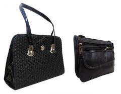 Estoss Women's Clothing - Estoss Buy 1 Get 1  - Black Handbag & Black Multi-Pocket Sling Bag