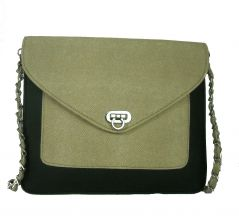 Estoss MEST1010 Beige Metal Chain Sling Bag