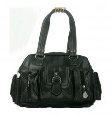 Shop or Gift Estoss Black Multi-Pocket Handbag Online.