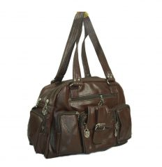 Estoss Brown Multi-Pocket Handbag
