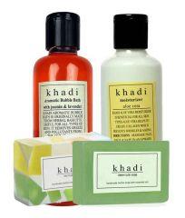 Khadi Bath Set- Khadi Aromatic Bubble Bath 210Ml