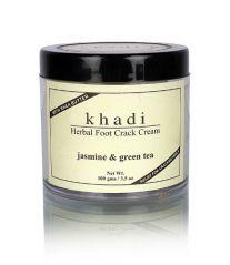 KHADI JASMINE & GREEN TEA HERBAL FOOT CRACK CREAM / with SHEABUTTER / 100 g