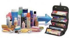 Genuine 4 In 1 Travel Buddy Roll N Go Cosmetic Bag Toiletry Jewelery Organi
