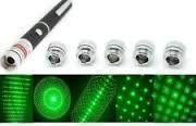 5 Patterns Head Green Laser Pointer Laser Pen 5 Star Caps