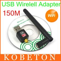 PCMCIA Cards & Readers - AK Mini 150Mbps USB WiFi Wireless Dongle Network Card RT5370 802.11 n/g/b 150M LAN Adapter with Antenna
