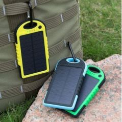 Power Banks - Waterproof Dust Proof 5000 mAh Solar Power Bank USB Universal Mobile Charge
