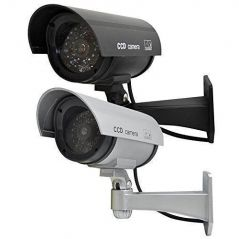 Security, Surveillance Equipment - Dummy Cctv Security Camera With Flashing Red Light