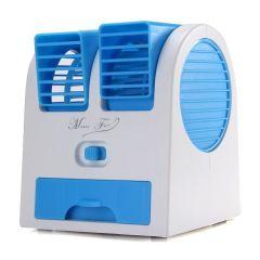 Fans ,Fans  - Mini Fragrance Air Conditioner Cooling Fan Blue