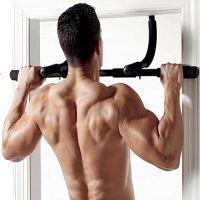Shop or Gift Fitness Door Gym Bar For Pull Ups, Push Ups, Dips & Sit Ups Online.