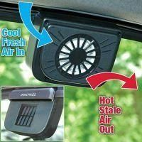 Shop or Gift Auto Cool Ventilation Fan Solar Powered Exhaust System Keep Your Car Cool Online.