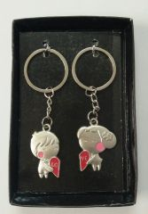 Key Chains (Men's) - Heart Shape Couple Keychain Best Gift Collectible (bc)