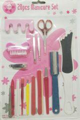 20 pcs Manicure & Pedicure set (dhs)
