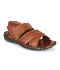 Leather King Genuine Leather Tan Formal Sandals - (Code -LK-105-01-TAN)