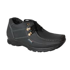 Leather Soft Genuine Leather Casual Black Shoes - (Code -LS-K2-BK)