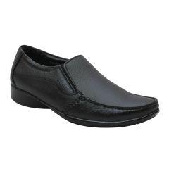 Leather King Genuine Leather Black Formal Shoes - (Code -LK-MFS-37-BK)
