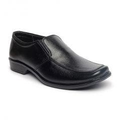 Leather Soft Genuine Leather Black Formal Shoes - (Code -LS-RK-04-BK)