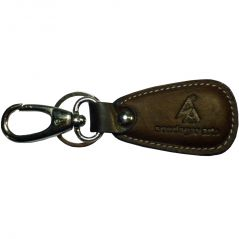 Sondagar Arts Genuine Leather  Locking Key Chain For Men's(Brown)