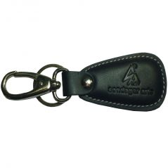 Sondagar Arts Genuine Leather  Locking Key Chain For Men's(Black)