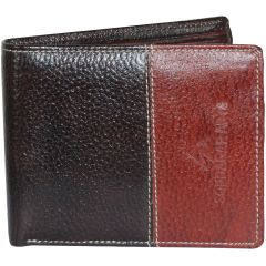 Sondagar Arts Brown Formal Leather Wallet For Mens
