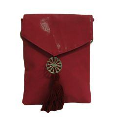 Arabian Nights Morrocan Style Women's Red Cotton Sling Bag (Product Code - AN-SLING BG-RED)