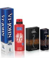 St.John-Vijohn SHAVING CREAM 125 G + ASL COBRA+Deo Energetic  +  Cobra Perfume 15ml-(Code-VJ101)