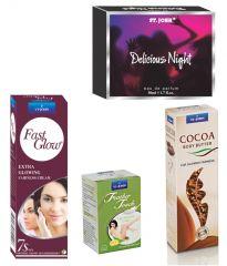 St.John-Vijohn Women Care Kit (Hair Remover Lime & Fast Glow Fairness Cream & Body Butter & Perfume Delious Night)-(Code-VJ455)