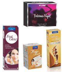St.John-Vijohn Women Care Kit (Hair Remover Sandal & Fast Glow Fairness Cream & Body Butter & Perfume Delious Night)-(Code-VJ456)