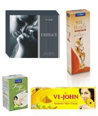 St.John-Vijohn Women Care Kit (Hair Remover Lime & Turmeric Cream Fairness Cream & Body Butter & Perfume EMBRACE)-(Code-VJ463)