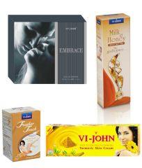 St.John-Vijohn Women Care Kit (Hair Remover Sandal & Turmeric Cream Fairness Cream & Body Butter & Perfume EMBRACE)-(Code-VJ464)