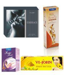 St.John-Vijohn Women Care Kit (Hair Remover Honey/Saffron & Turmeric Cream Fairness Cream & Body Butter & Perfume EMBRACE)-(Code-VJ465)
