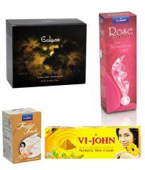 St.John-Vijohn Women Care Kit (Hair Remover Sandal & Turmeric Cream Fairness Cream & Body Butter & Perfume Eclips)-(Code-VJ468)