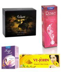 St.John-Vijohn Women Care Kit (Hair Remover Honey/Saffron & Turmeric Cream Fairness Cream & Body Butter & Perfume Eclips)-(Code-VJ469)
