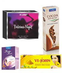 St.John-Vijohn Women Care Kit (Hair Remover Honey/Saffron & Turmeric Cream Fairness Cream & Body Butter & Perfume Delious Night)-(Code-VJ477)