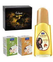 St.John-Vijohn Feather Touch Hair Removal Cream (Lime & Sandal) 40GM & Perfume EMBRACE 50ML & Almond Hair Oil 50ml-(Code-VJ481)