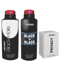 Archies  Deo Black Is Bkack & Black Hole + Perfume Privacy-(Code-VJ620)