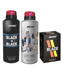 Archies  Deo City Gang & Black Is Bkack + Perfume Blade-(Code-VJ623)