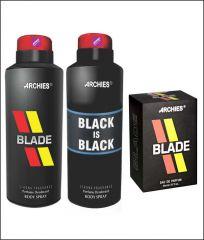 Archies  Deo Blade & Black Is Bkack + Perfume Blade-(Code-VJ626)