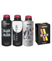 Archies  Deo City Gang & Black Is Bkack & Black Hole + Perfume Blade-(Code-VJ666)