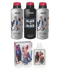 Archies  Deo City Gang & Black Is Bkack & City Gang + Perfume City Gang-(Code-VJ675)