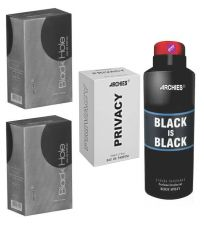 Archies  Perfume Black Is Black & Privacy & Black Hole & Deo Black Is Black-(Code-VJ763)