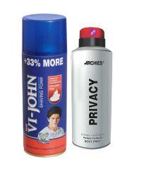 Archies  Deo Privacy & Vijohn Shave Foam 400GM For Hard Skin-(Code-VJ769)