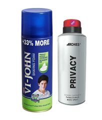 Archies  Deo Privacy & Vijohn Shave Foam 400GM For Sensitive Skin-(Code-VJ770)