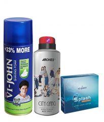 Archies  Deo City Gang & Vijohn Shave Foam 400GM For Sensitive Skin & After Shave Splash-(Code-VJ782)