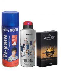 Archies  Deo City Gang & Vijohn Shave Foam 400GM For Hard Skin & After Shave Black Sea-(Code-VJ796)