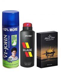 Archies  Deo Blade & Vijohn Shave Foam 400GM For Sensitive Skin & After Shave Black Sea-(Code-VJ803)