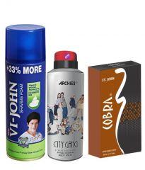 Archies  Deo City Gang & Vijohn Shave Foam 400GM For Sensitive Skin & After Shave Cobra-(Code-VJ812)